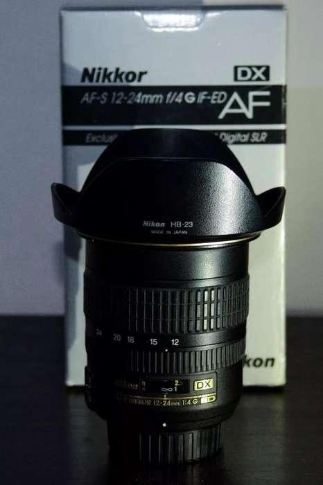 Lente Nikon 12 24 f4 Ultra gran angular aro dorado linea profesional
