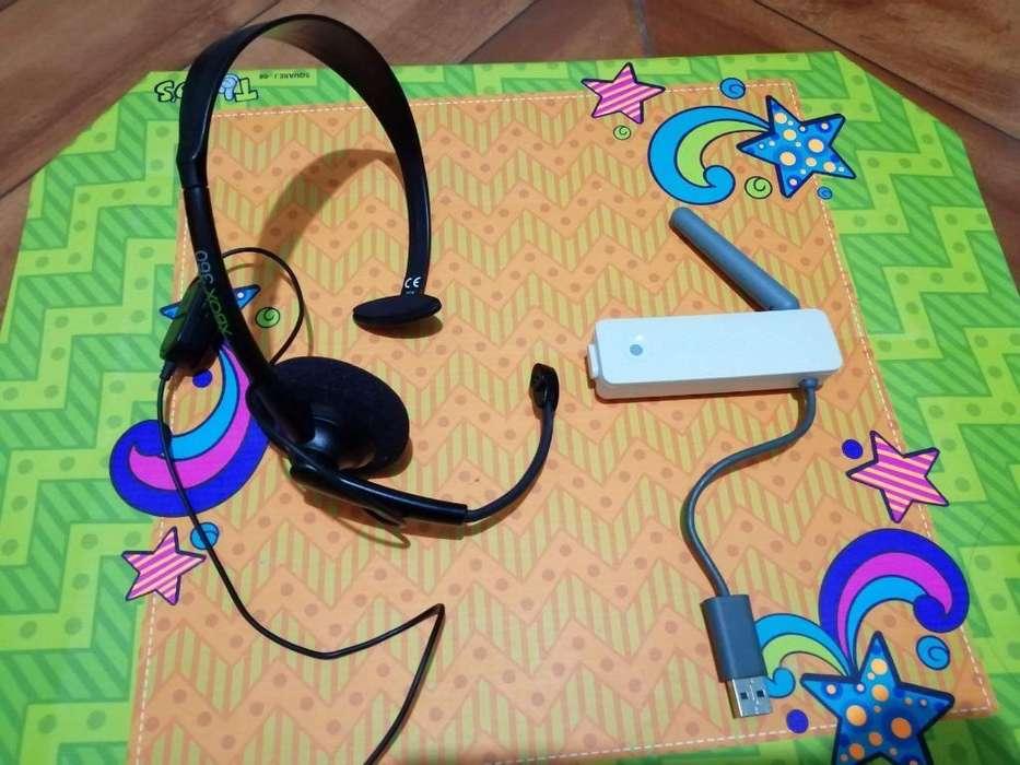 Antena de Wifi de Xbox 360 Y Auriculares