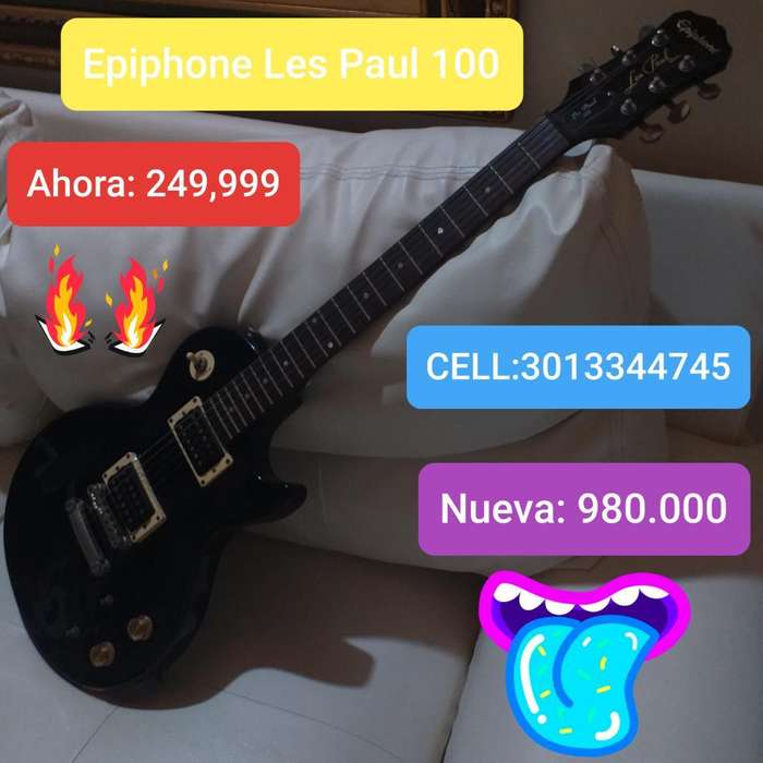 Hermosa Epiphone Les Paul 100 Usada