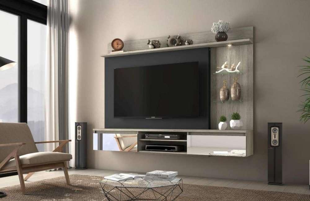 PANEL TV con luz led y espejos