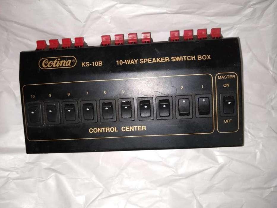 CONTROL CENTER COTINA KS-10B 10 WAY SPEAKER SWITCH BOX
