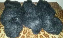 200 gr, 3 madejas de Mistika negro, lana de ovillo en madejas
