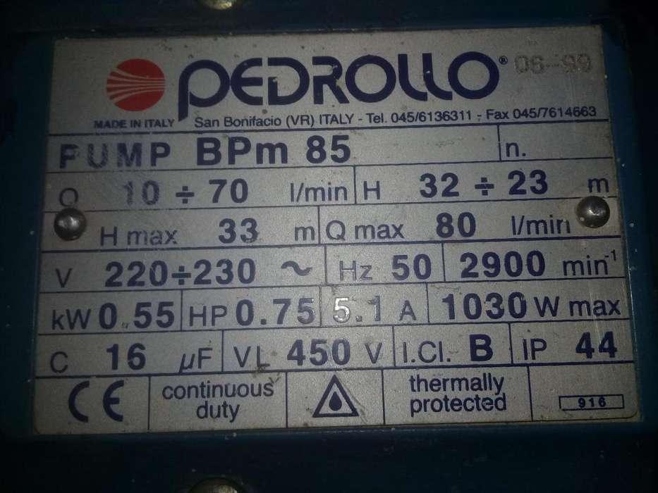 bomba de agua centrifuga 0.75 HP pedrollo italiana