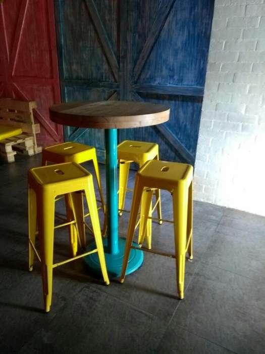 Barril <strong>sillas</strong> Y Mesas de Bar