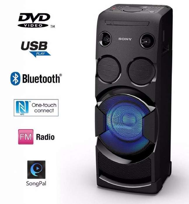Minicomponente Sony Dvd Bluetooth Karaoke 660w Mhc-v44d