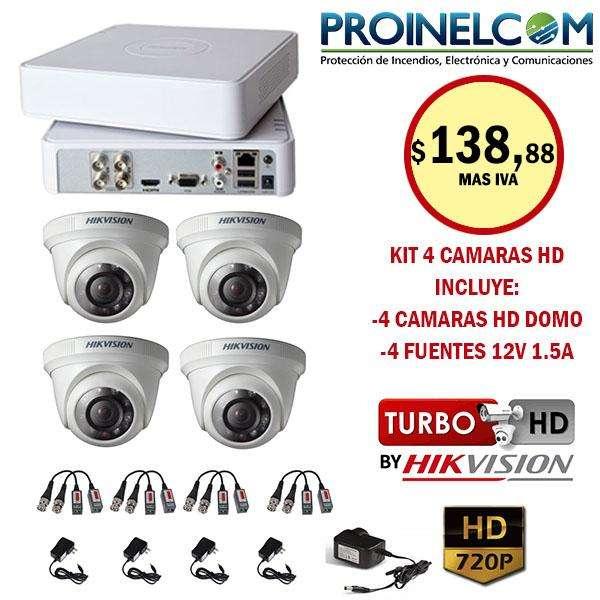 Kit de Camaras De Seguridad Hikvision 720p Con Disco Duro
