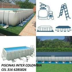 PISCINAS ESTRUCTURALES INTEX COLOMBIA MODELOS Y TAMAÑOS ,FACIL INSTALACION CEL 350 8638546 ENVIOS NACIONALES
