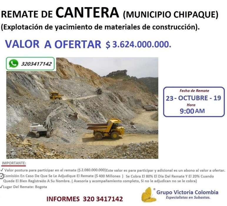 CONSTRUCCIÓN REMATE CANTERA CHIPAQUE