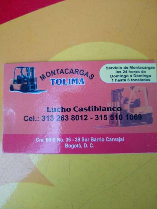 SERVICIO MONTACARGAS TOLIMA