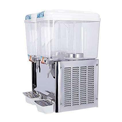Dispensador De Jugos Refrigerado, 18l Cada Tanque