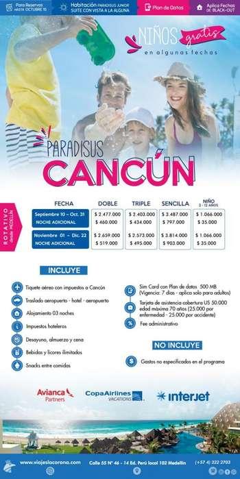 Viaje a Cancún H. PARADISUS CANCÚN con Viajes la Corona 2019 3 Noches