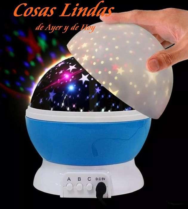 Velador Lámpara Proyector Giratorio Estrellas Led Decoración <strong>dormitorio</strong> HogarInfantil La Plata