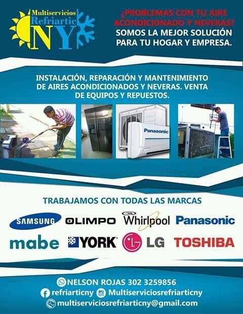 Servicio Técnico en Aires Acondicionados refrigeración y electricidad