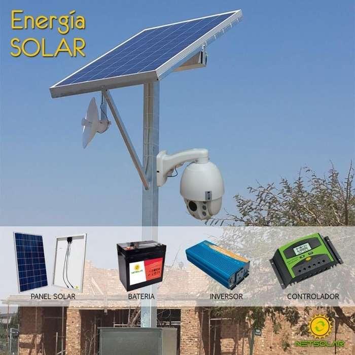 camaras con panel solar enlace remoto de datos