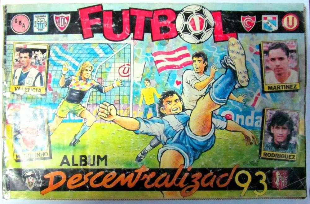 Álbum Completo Fútbol Peruano Descentralizado 1993. Diario Onda. Auspicio de Productos El Tigre. Lima – Perú. 1993