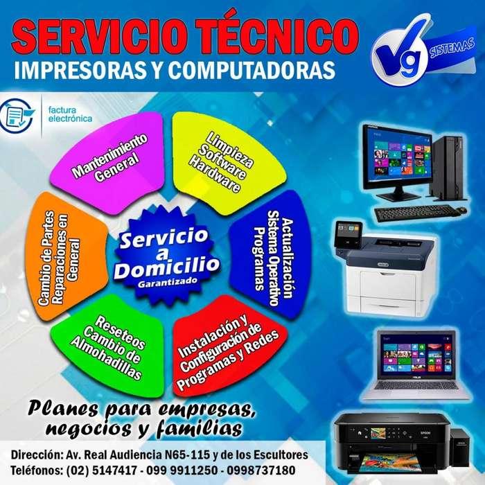 SERVICIO TECNICO, MANTENIMIENTOS EN GENERAL PARA IMPRESORAS Y COMPUTADORAS