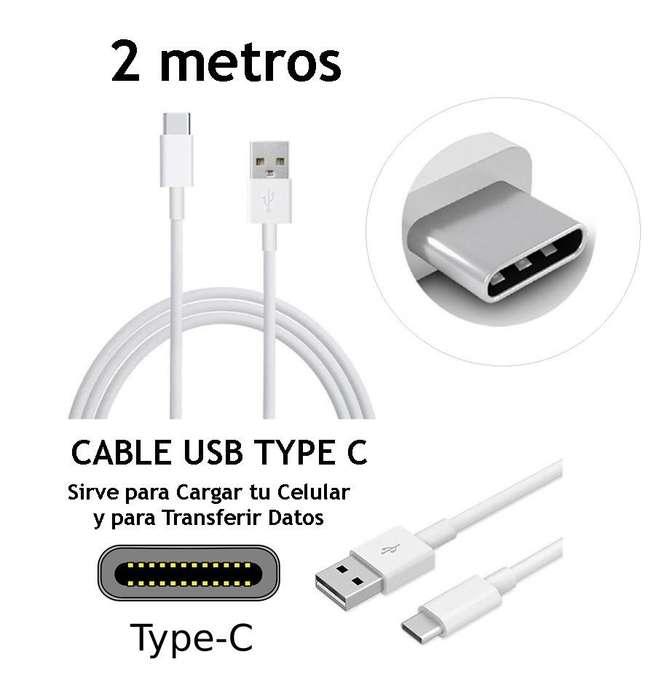Cable Usb Type C 2 Metros Motorola Moto Z Z2 Play Rosario