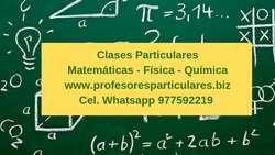 Clases de Matemáticas, Profesores Matemáticas, Física, Química, Integrales