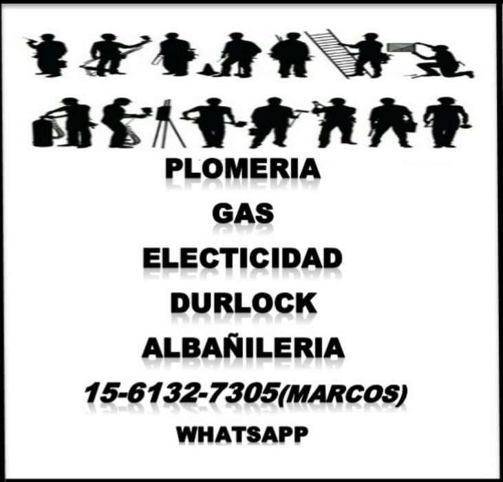 Plomería Durlock Electricidad Gasista