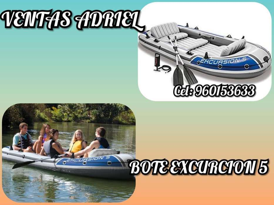 Bote Inflable Excursion 5 Remo Inflador
