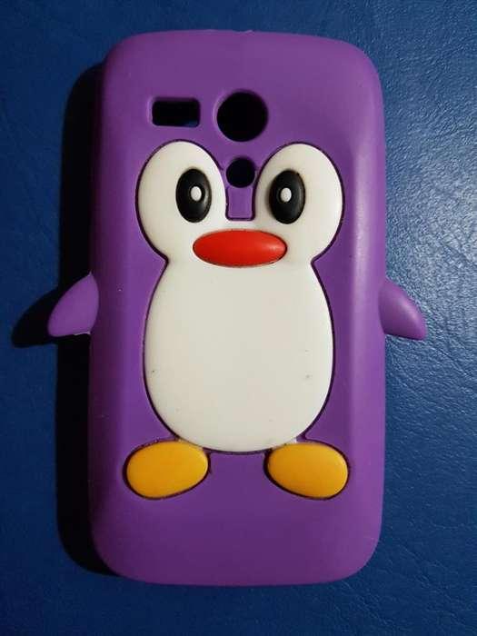 Funda Protector Silicona Pinguino Motorola G Xt1028 1031