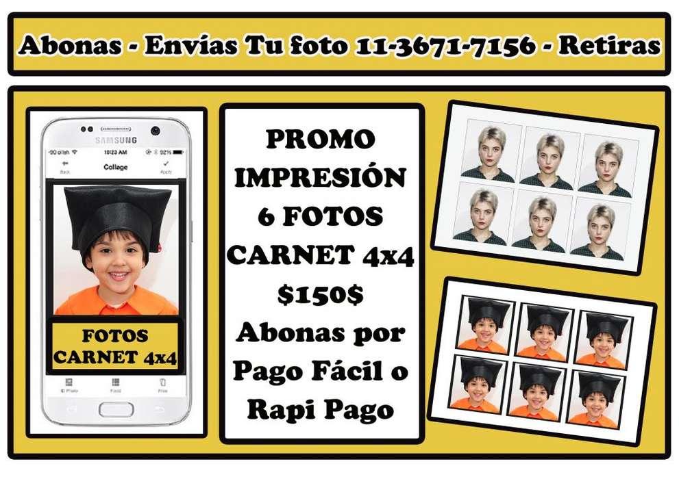 6 Fotos Carnet 4x4 150