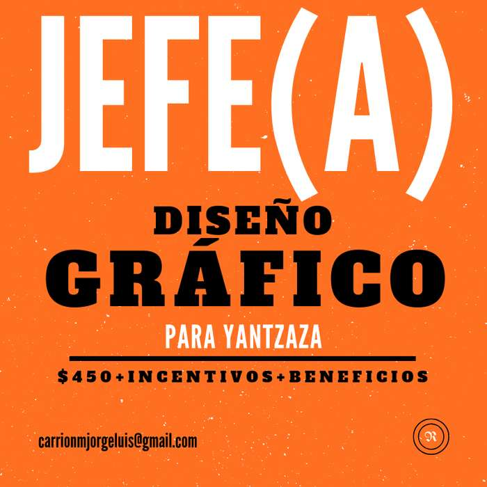 JEFE(A) DE DISEÑO GRÁFICO (YANTZAZA)