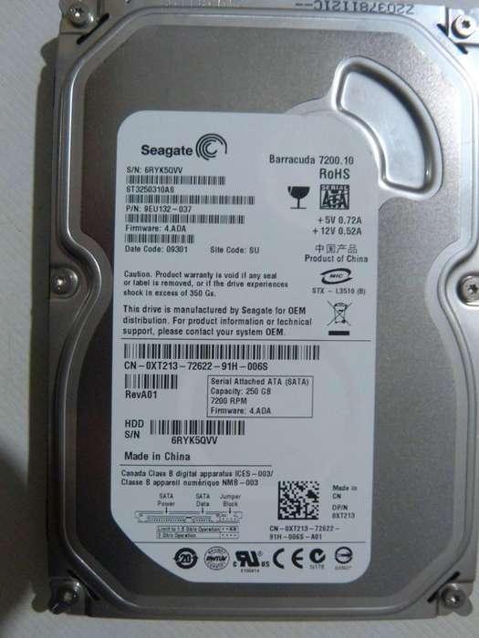 Disco Rígido Seagate 250GB SATA