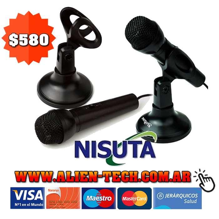 ALIENTECH: MICROFONO NISUTA NS-MIC180 CON PEDESTAL CONECTOR PLUG 3.5 MM CABLE DE 1.8 MTS.