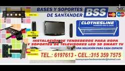 BASES y SOPORTES PARA TELEVISOR Y TENDEDEROS DE ROPA EN PIEDECUESTA, F/BLANCA, GIRON Y B/MANGA
