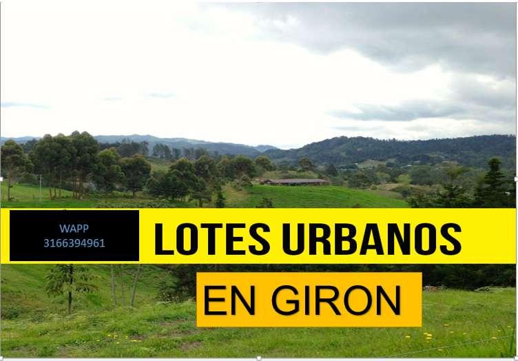 Lotes de 50 millones a 30 millones, sobre planos en Giron
