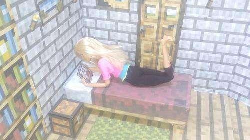Habitación Estilo Minecraft Para Barbie manualidad