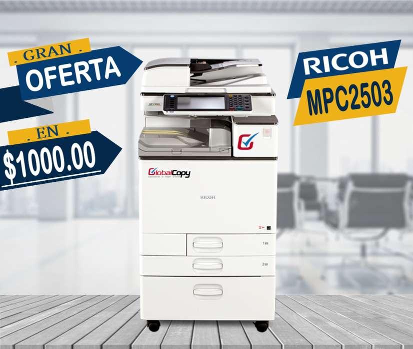 COPIADORA RICOH MPC2503 CON GARANTIA