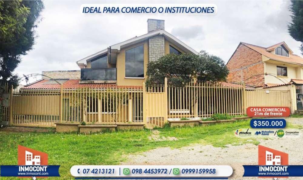 C413 Casa con frente a la vía, ideal para comercio o instituciones