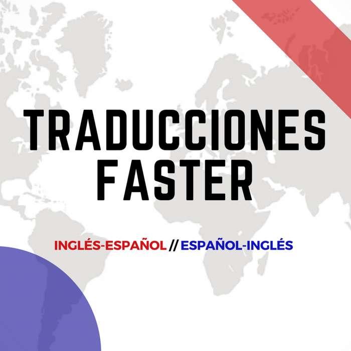 Traducciones de Inglés a Español y viceversa