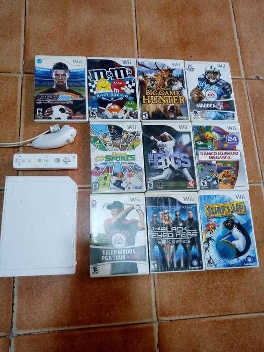 Wii con 10 Juegos Originales