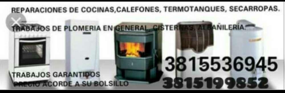 Arreglo de Cocinas,calefones,termotanque