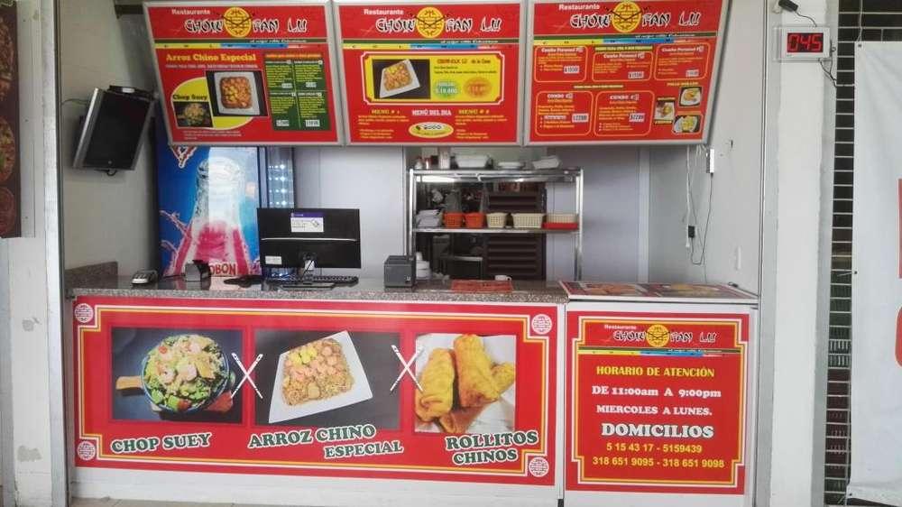 Vendo Restaurante en Plazoleta de Comidas Produciendo
