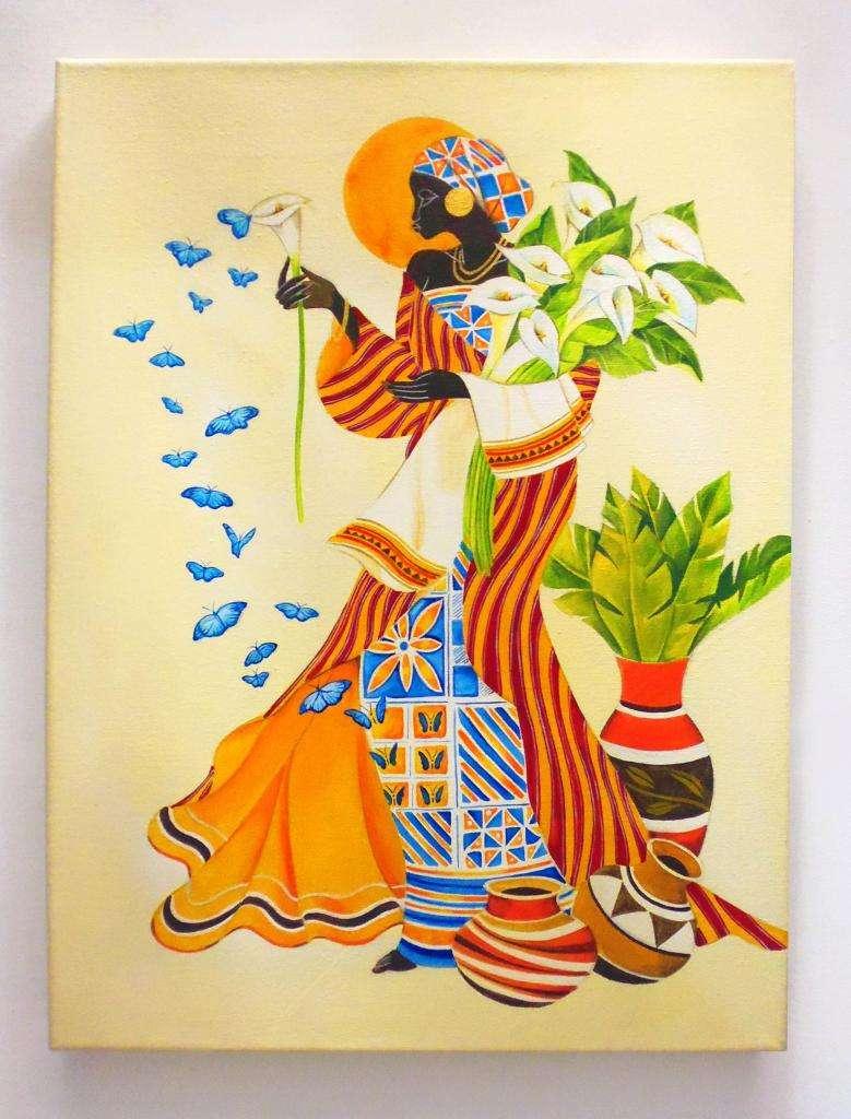 Cuadros Tripticos Polipticos Modernos Mujeres africanas Etnicos