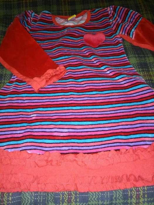 Vestido Plush beba Corazón