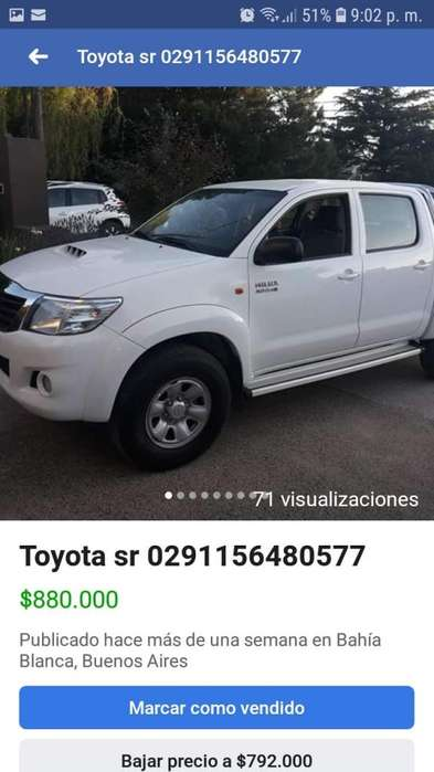 <strong>toyota</strong> Hilux 2012 - 66000 km