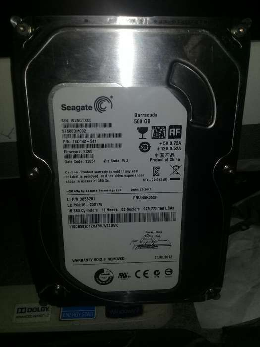 Vendo Disco Duro de 500gb Segate