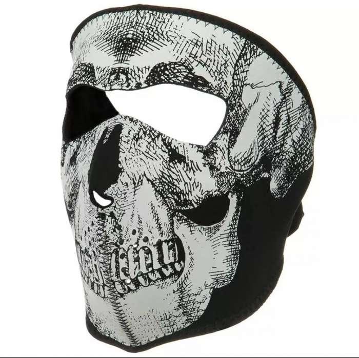 Mascara Balaclava Neopreno Esqueleto