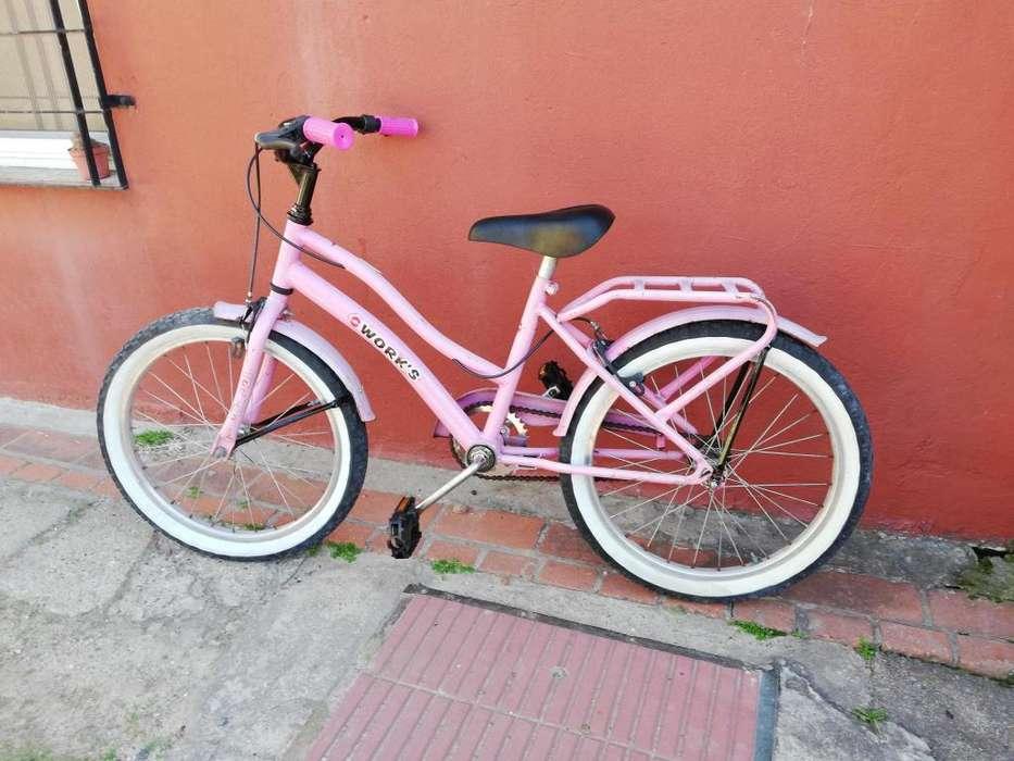 Bicicleta Paseo Nena R20 Bicisnachorestauraciones