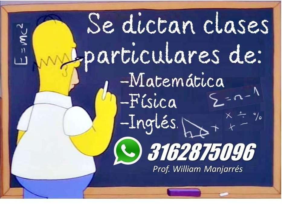 Se dan clases de matemática, física e inglés.