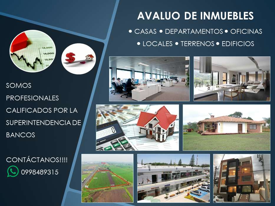 Avaluo De Inmuebles Quito, Casas, Departamentos, Oficinas, terrenos, locales comerciales, bodegas.