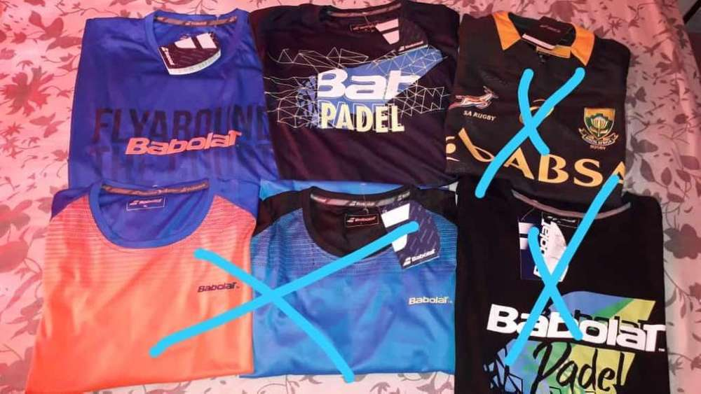remeras <strong>masculina</strong>s padelt y babolat