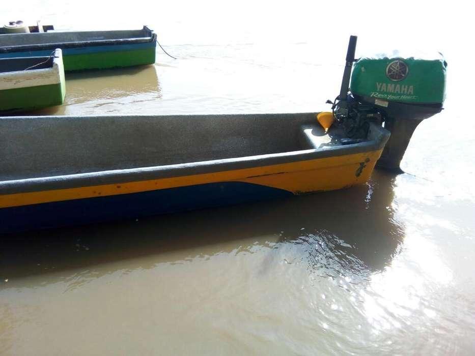 Motor Fuera de Borda con Canoa de Fibra
