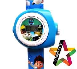 Reloj Paw Patrol con proyector de imagenes