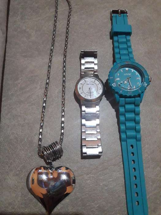 Combo Relojes Y Collar